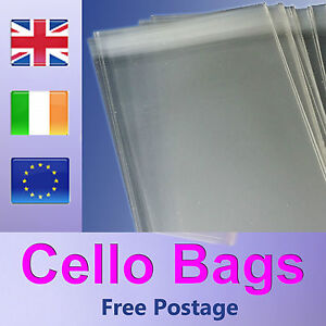 """50 Clear Cellophane Cello Greeting Cards Bags 9/"""" x 12/"""""""