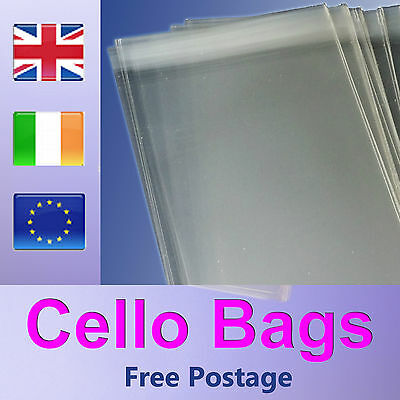 130mm Square 5 inch Peel and Seal Clear Cello Bags for Greeting Cards