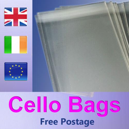 50-dl violoncelle sacs pour cartes de vœux et estampes-cellophane clair peel /& seal