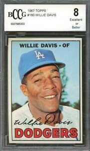 Willie-Davis-Card-1967-Topps-160-Los-Angeles-Dodgers-BGS-BCCG-8