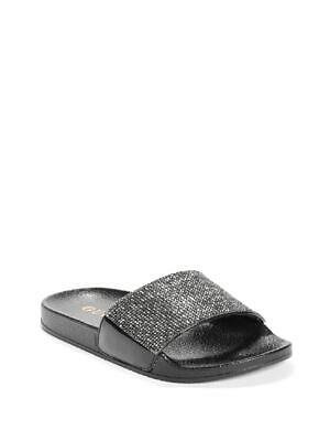 GUESS Factory Kids Natalita Girls Rhinestone Slide Sandals