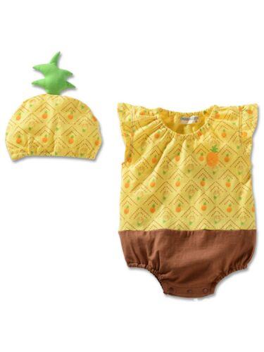 Newborn Kids Baby Boy Girl Infant Fruit Romper Jumpsuit Bodysuit Clothes Outfit