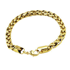 Luxury 7 mm width 18 k Gold Plated Bracelet for Men Man Mens Jewellery BB114