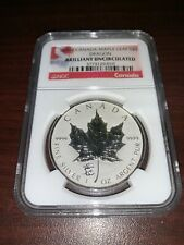 2012 RCM RP 1 oz $5 .9999 Silver Maple Leaf with Titanic Privy In Capsule.