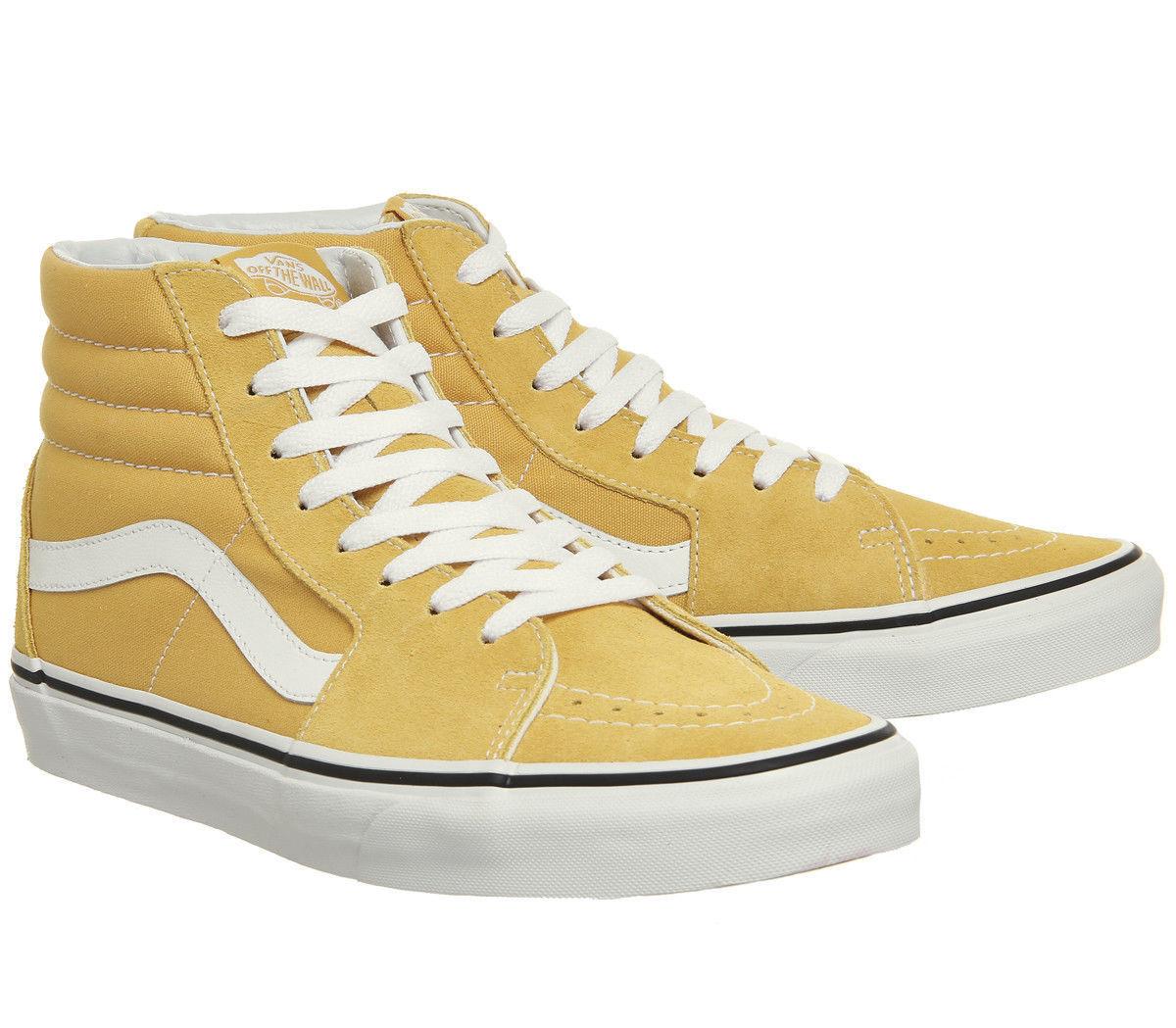Vans Ochre Yellow True White Sk8 Hi Mens shoes