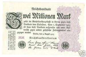 Deux millions de marks 1923 caisses frais ro.103e-afficher le titre d`origine EXdf1iV1-07134336-464495833