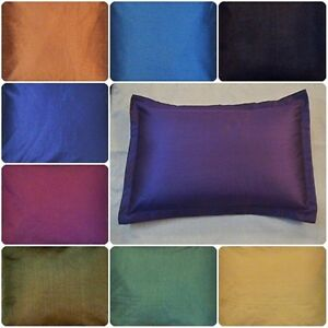 plain solid bed pillow case queen standard king size covers polyester 8 colors. Black Bedroom Furniture Sets. Home Design Ideas