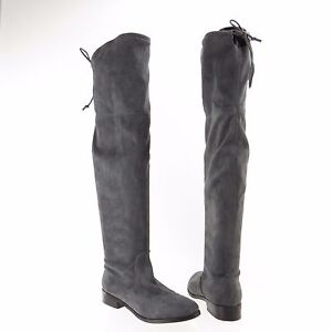 144a76217cb Women's Steve Madden Orlene Shoes Gray Synthetic Over the Knee Boots ...