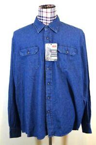 Wrangler-Blue-Jean-Denim-MensComfort-Classic-Fit-Big-Shirt-2XL