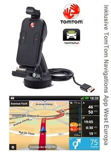 Tomtom-Coche-Kit-Apple-IPHONE-4S-3GS-Manos-Libres-Set-App-West-Europa-GPS