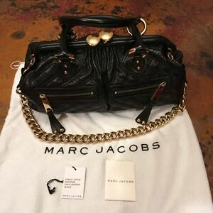 ac3dc6a15b Image is loading Authentic-Marc-Jacobs-Leather-Stam-Quilted-Handbag -Shoulder-