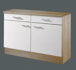 Menke Küchen Unterschrank 100 cm Sonea weiß, Küchenschrank, Schrank ...