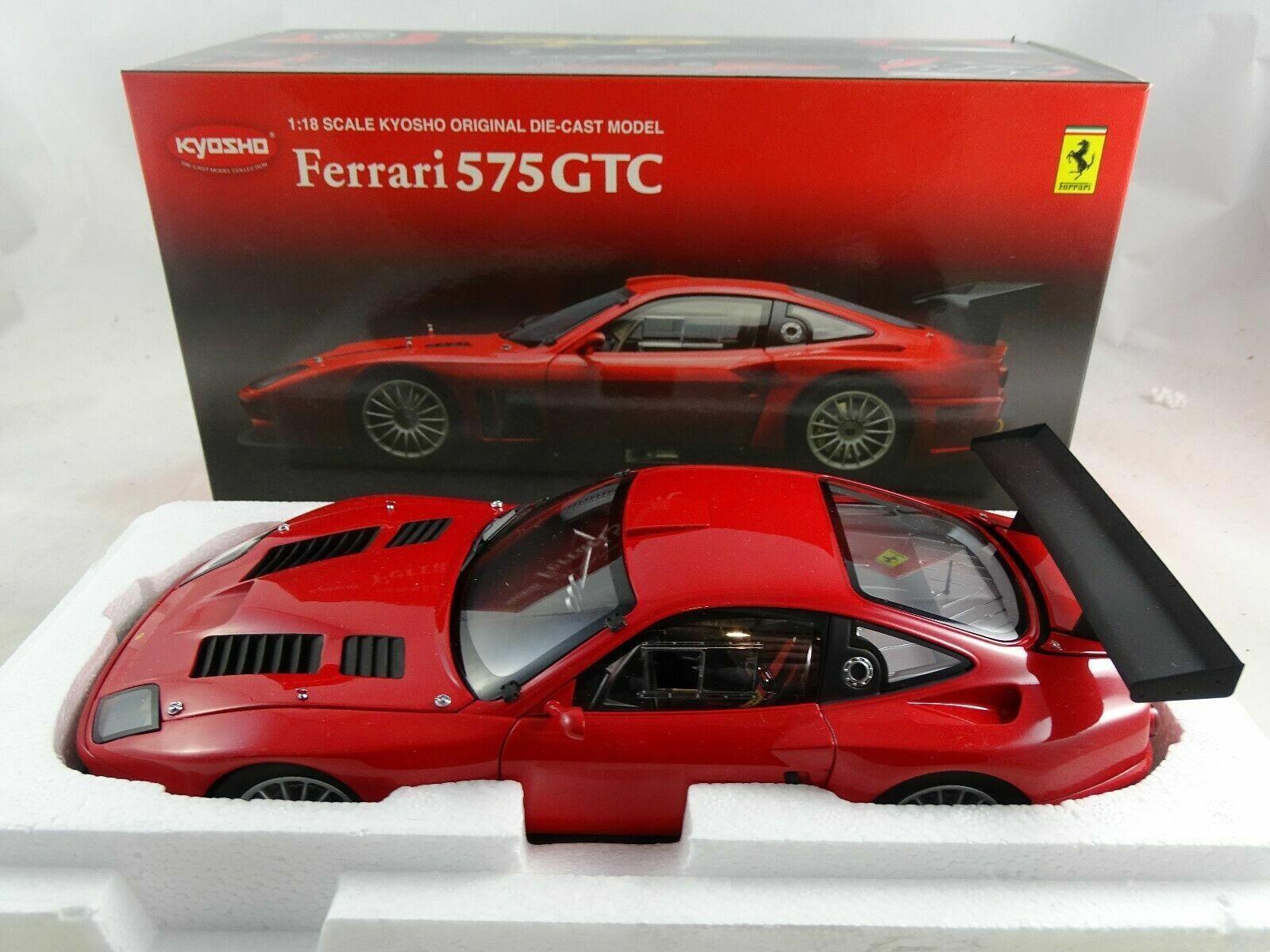 1 18 Kyosho  08391a - 2004 Ferrari 575 GTC Rosso