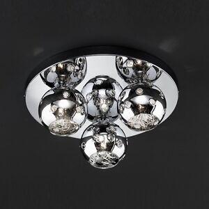 Wofi-Deckenleuchte-Empire-3-flg-Chrom-Glas-Kugel-38-cm-Lampe-G9-Fassung-Licht