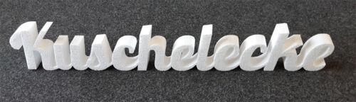 Kuschelecke Schriftzug aus Styropor Dekor Buchstaben 98*16cm 50mm stark ca