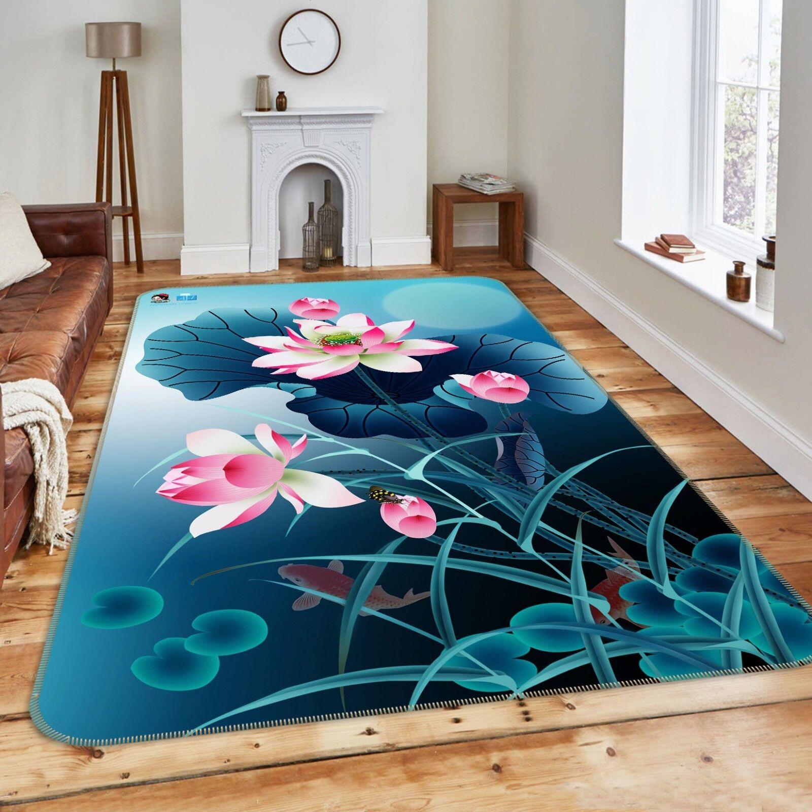 3d estanque Lotus naturaleza 688 antideslizante alfombra alfombrilla para maletero alfombra elegante de