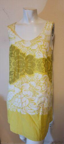 Marimekko Womens Cotton Floral Yellow Shift Dress
