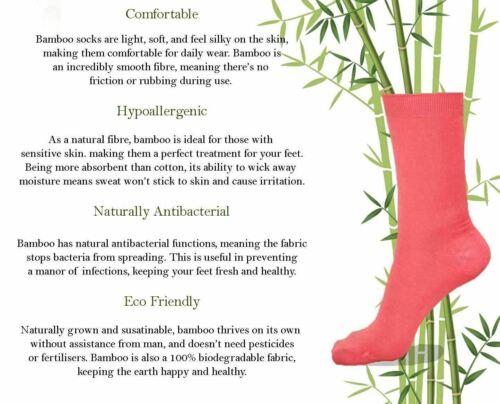 6 Ladies Bamboo Non Elastic Super Soft Antibacterial Socks UK 4-7
