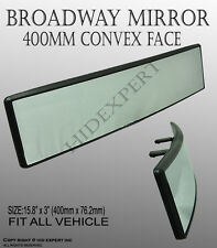 JDM Broadway Anti-Glare White Tint 400mm Convex Rear View Mirror Clip on Ne#D472