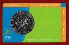 2006 Melbourne XVIII Commonwealth Games 50c Uncirculated Coin - Triathlon