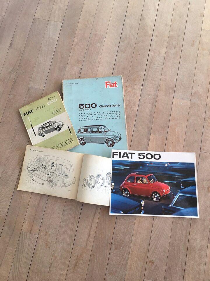 Fiat 500 brochure med mere