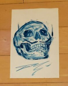 """SALVADOR DALI AUTHENTIC -DALI SKUL- 13"""" x 8.5"""" INK ON PAPER HAND DRAWING"""
