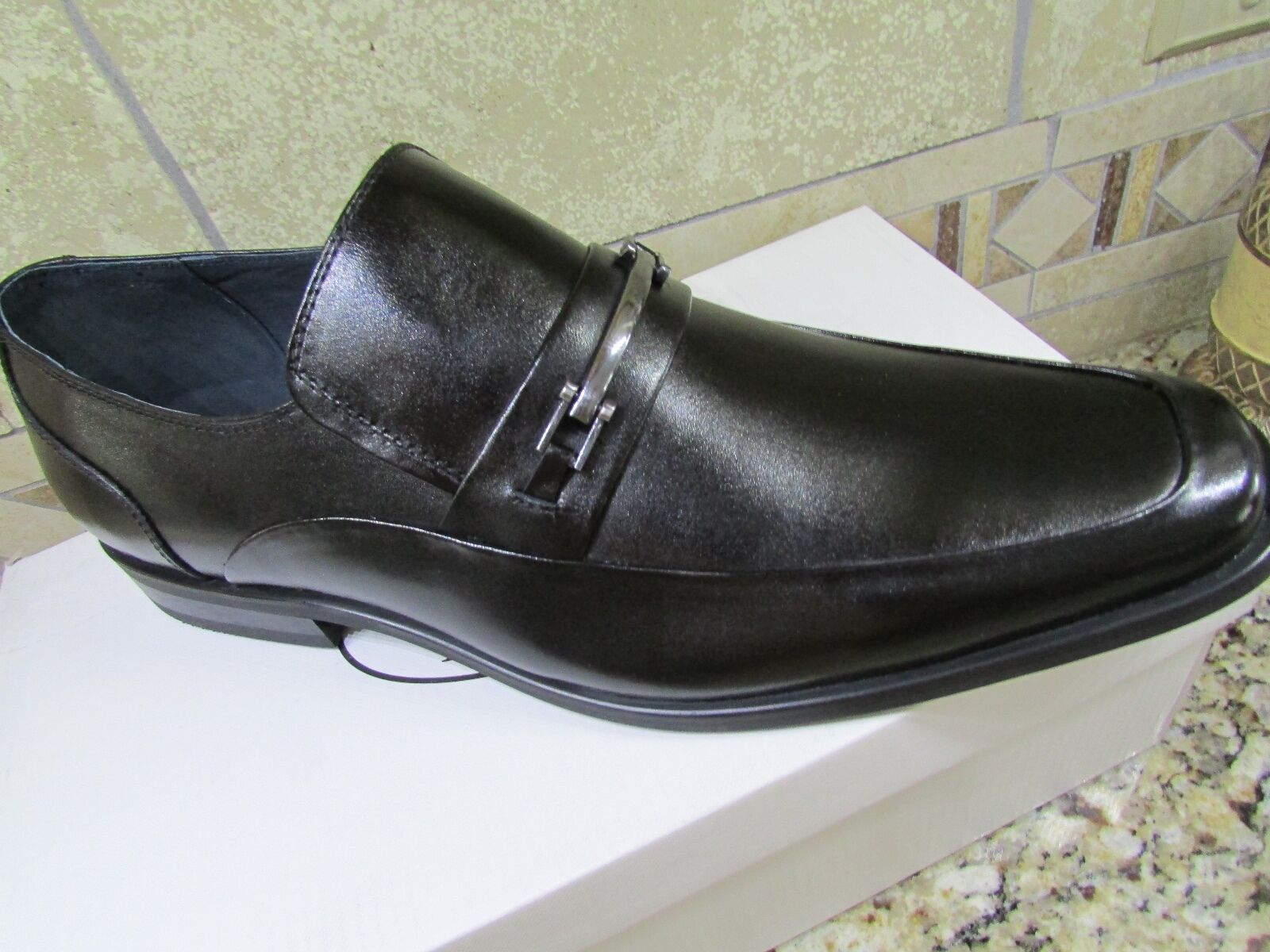 NEW STEVE MADDEN RODDY BLACK LEATHER SHOES MENS 11.5