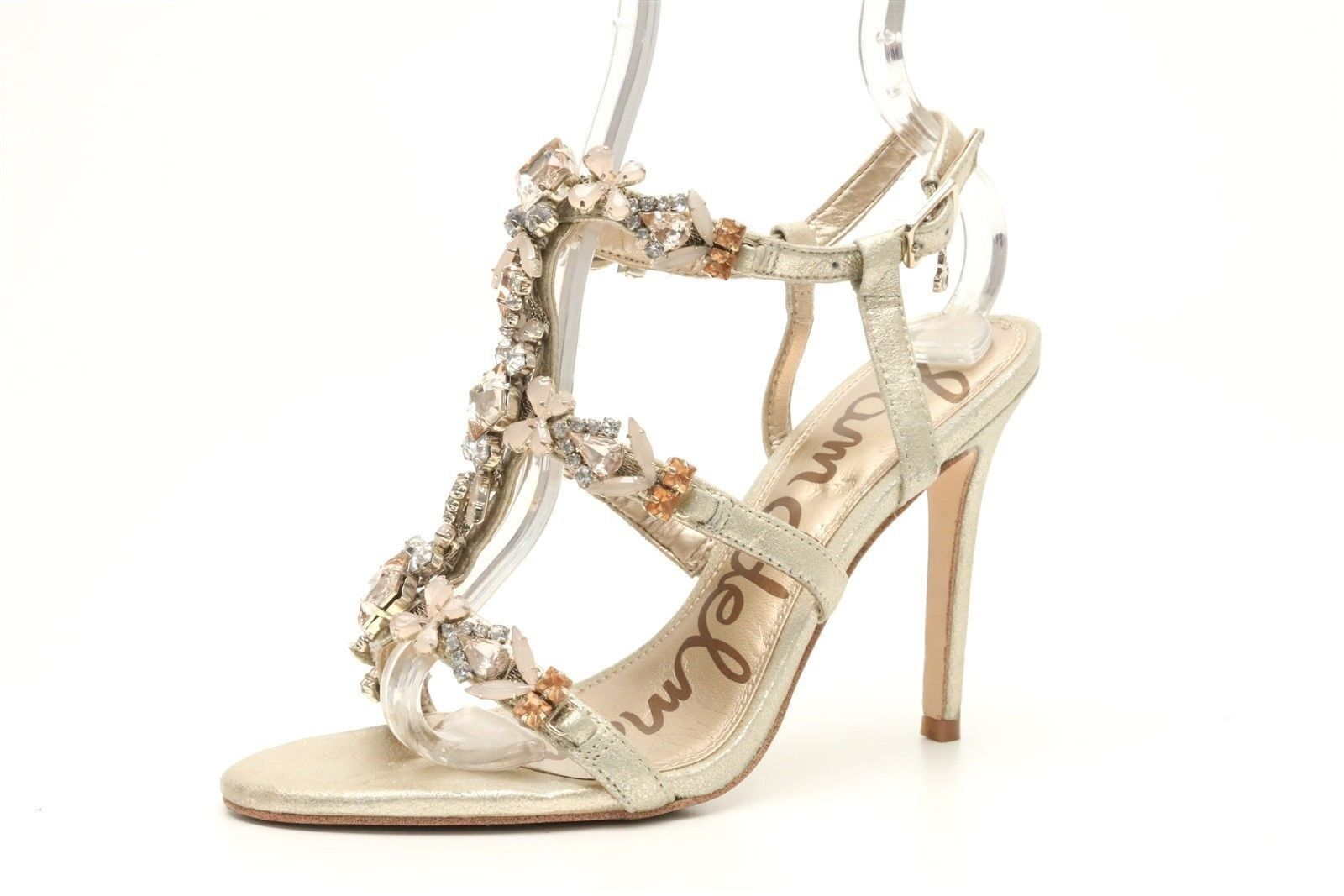 Damenschuhe SAM EDELMAN gold jeweled strappy ankle strap Sandale sz. 6 M 160