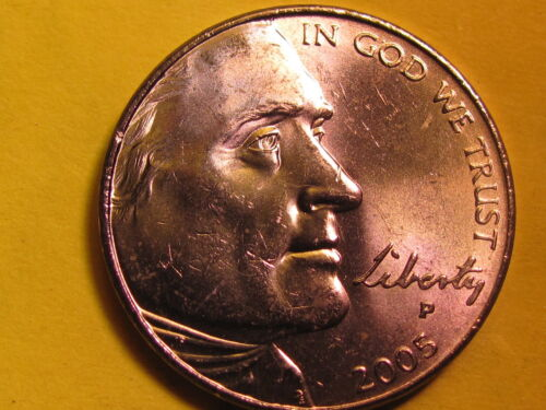Uncirculated 2005-P  Jefferson 5 cent American Bison