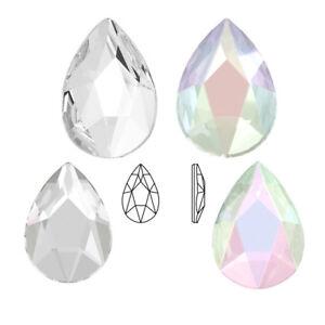 Genuine Swarovski Pear Shaped (2303) AB Crystal   Clear ( No Hotfix ... 421c40ef6839