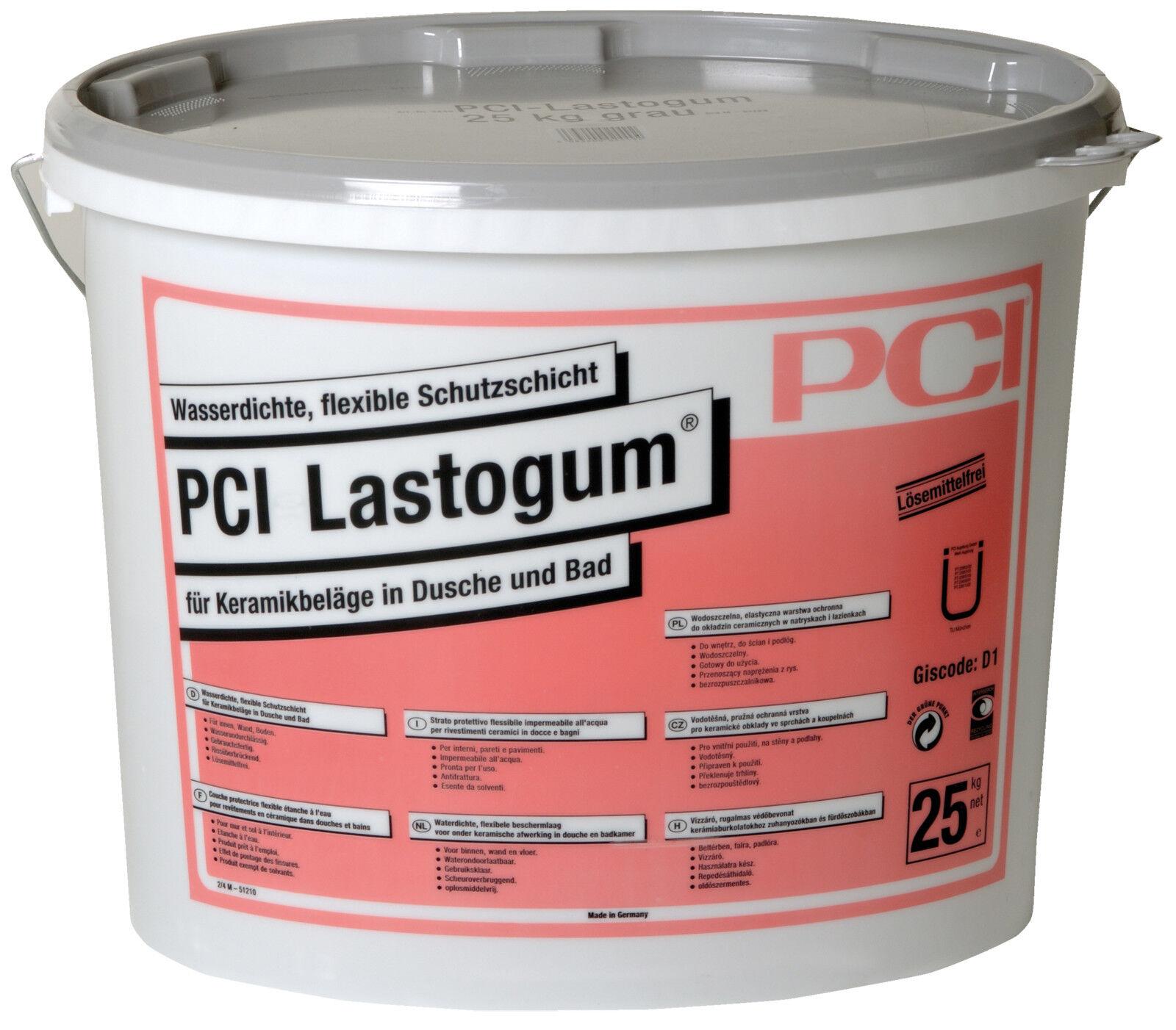 PCI Lastogum 25 kg grau Flüssigfolie Duschabdichtung Badabdichtung Abdichtung