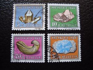 Switzerland-Stamp-Yvert-and-Tellier-N-661-A-664-Obl-A1-Stamp-Switzerland-E