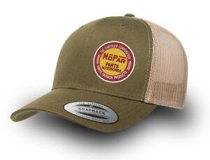 MOPAR CHRYSLER RETRO TRUCKER CAP MOPAR CAP/HAT YUPOONG MESH TRUCKER CAP