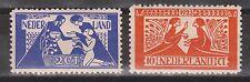 NVPH Nederland Netherlands 134 - 135 MLH ong. 1924 Tooropzegels Pays Bas