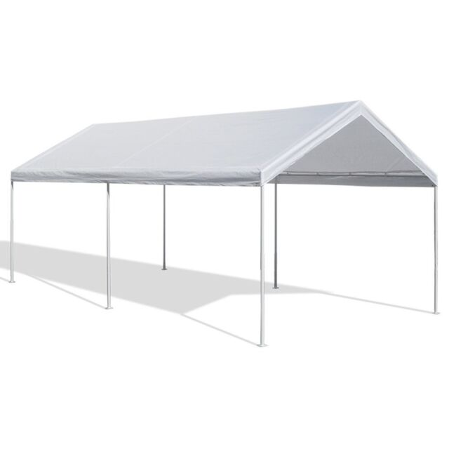 Carport Plans Diy Outdoor Canopy Car Shelter Gazebo Garage 12x20