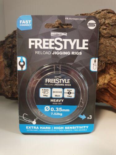 Spro Freestyle Reload Jig Jigging Rig 3 Stück 0,18mm 0,22mm 0,28mm 0,31mm 0,35mm
