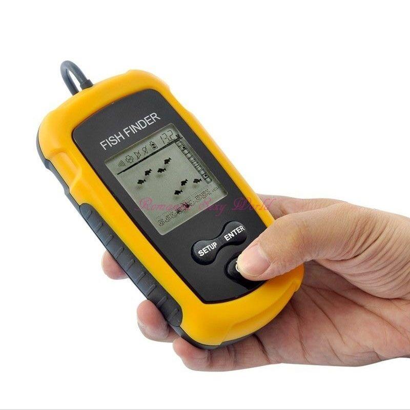 Portable Sonar Sensor Fish Finder Fishfinder Ice Fishing Radar Alarm Depth Probe