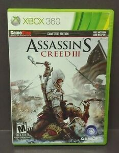 Assassin's Creed III GameStop Edt. Microsoft Xbox 360 Complete 1 Owner Mint Disc