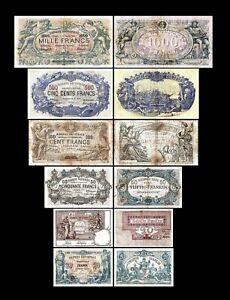 Bélgica - 2x  20 - 1.000 Francs - Edición 1883 - 1909 - Reproducción - B 22