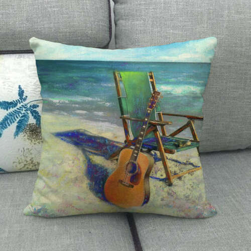 Country Scenery Square Cojines Sofa Seat Cushion Cover Decorative Pillow Case