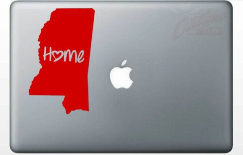 Mississippi Decal Home Jackson MS Biloxi Love Sticker *PICK YOUR SIZE /& COLOR*