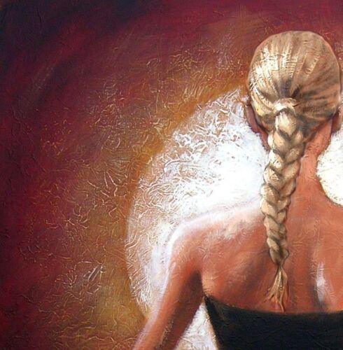 Yoga Light Blond by pollard 8x8 signed art print