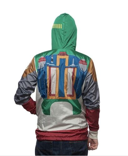 Episode 9 The Rise of Skywalker BOBA FETT WINDBREAKER HOODIE JACKET STAR WARS