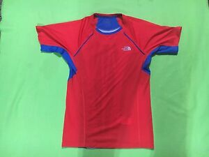 The-North-Face-Women-039-s-Red-amp-Blue-Flight-Series-Short-Sleeve-Shirt-Size-XS