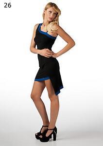 Kleid, Kleid Hintergrund Asymmetrisch, Asymetrisch Rand Zweifarbig + Schulter