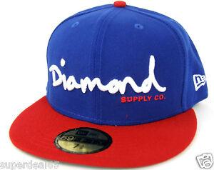 Diamond Supply Co Cap OG Script Fitted Hat New Era 59Fifty Orange Diamond 1998