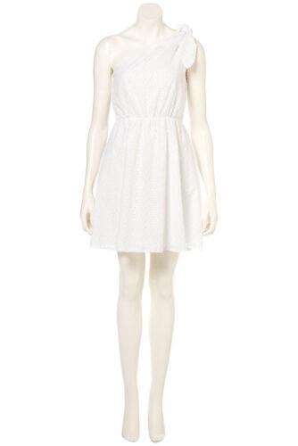 Bnwt Topshop Euro 2 Summer Dress 6 White One Uk Skater Shoulder 34 Us 6wxq7nr6
