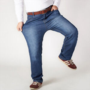 48 Mens Pantalon Jeans Taille Stretch Pantalon Size Baggy Plus Droit New 30 Mid S7OqwdO