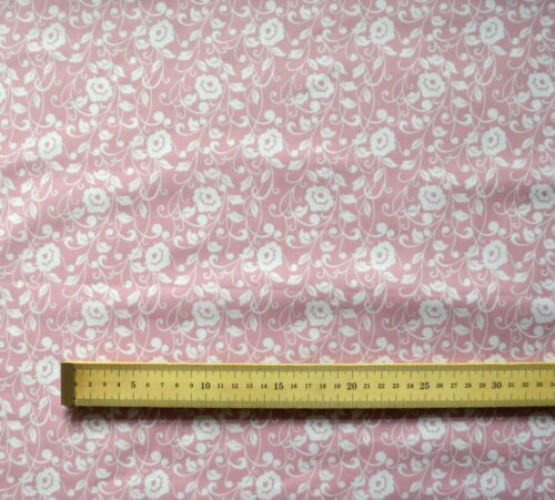 Polycotton Poly Cotton Fabric Sally Regal Flowers  112cm wide