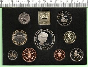 1999 ROYAL MINT NINE COIN COIN STANDARD PROOF SET WITH PAPERWORK